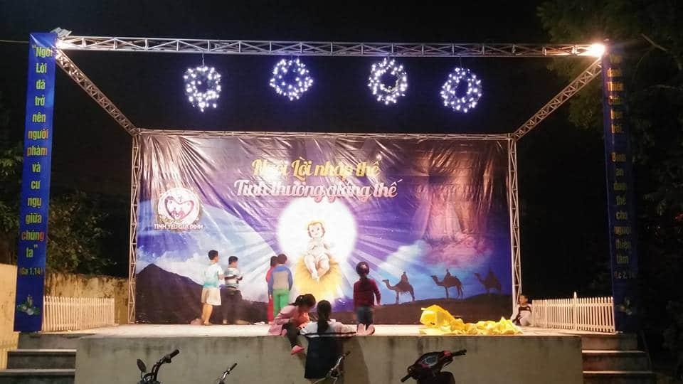 Phông sân khấu giáng sinh 2016