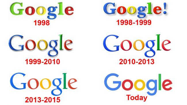 Logo google qua các thời kỳ