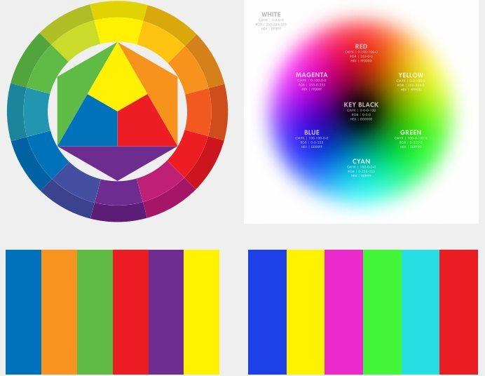 màu bổ túc trong thiết kế đồ họa