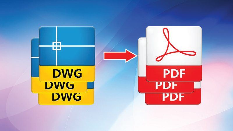 chuyen file dwg sang pdf