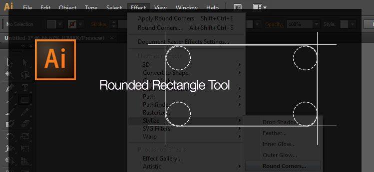 hướng dẫn bo tròn các góc của hình vuông trong illustrator