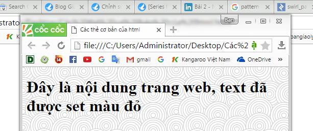 đặt hình nền cho trang web