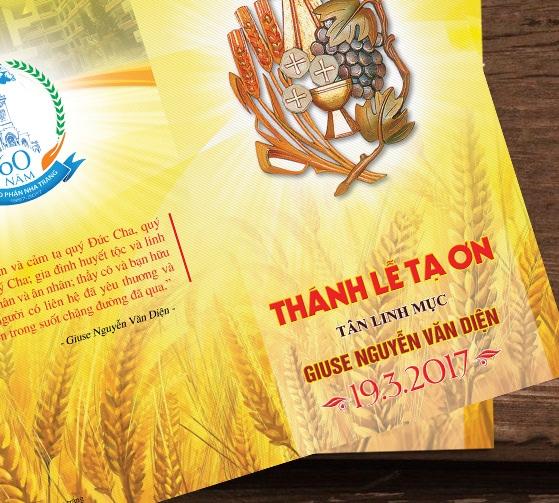 Thiệp mời Thánh lễ tạ ơn