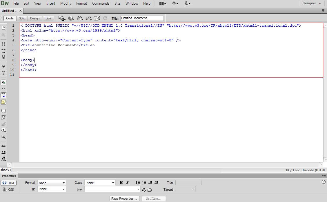 Cấu trúc một file html cơ bản