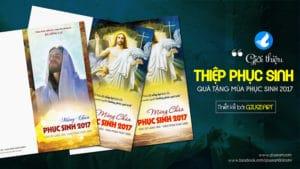 Giới thiệu mẫu Thiệp Mừng Chúa Phục sinh 2017