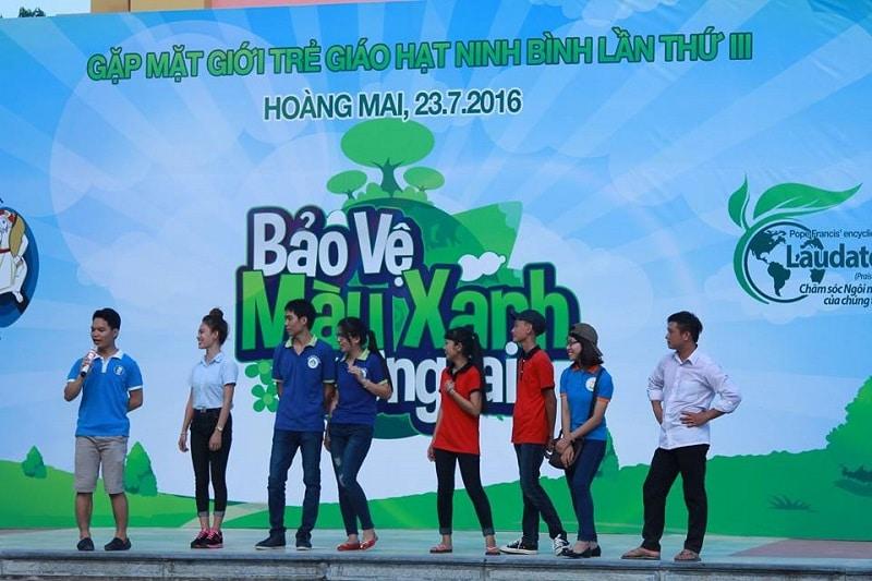 Phông sân khấu ĐHGT Hạt Ninh Bình lần thứ 3
