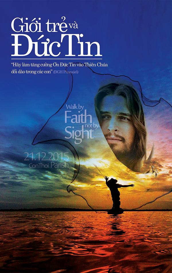 Phông sân khấu hội thảo Giới trẻ và đức tin