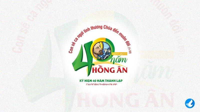 Logo kỷ niệm 40 năm thành lập ca đoàn