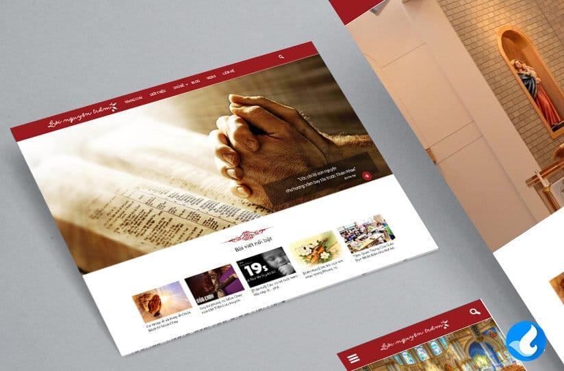 Giao diện trang chủ website âm nhạc