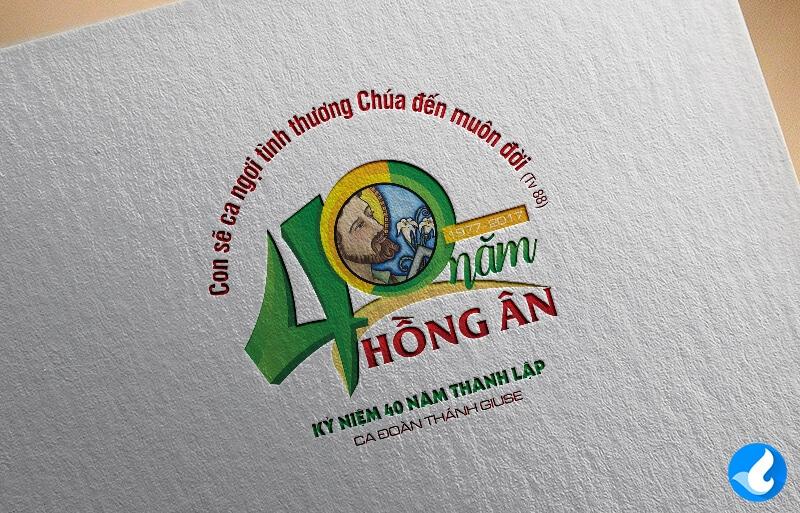 Logo kỷ niệm 40 năm thành lập ca đoàn giuse