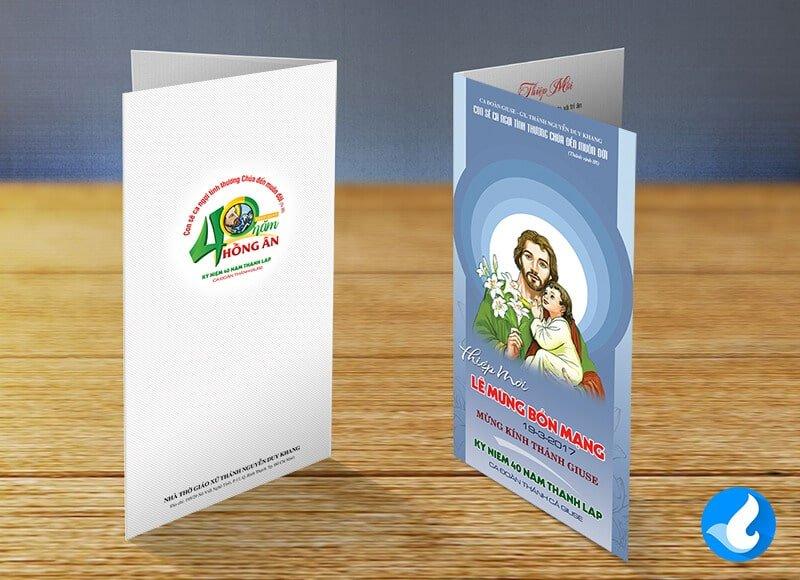 Thiệp mời Lễ Bổn Mạng Giuse