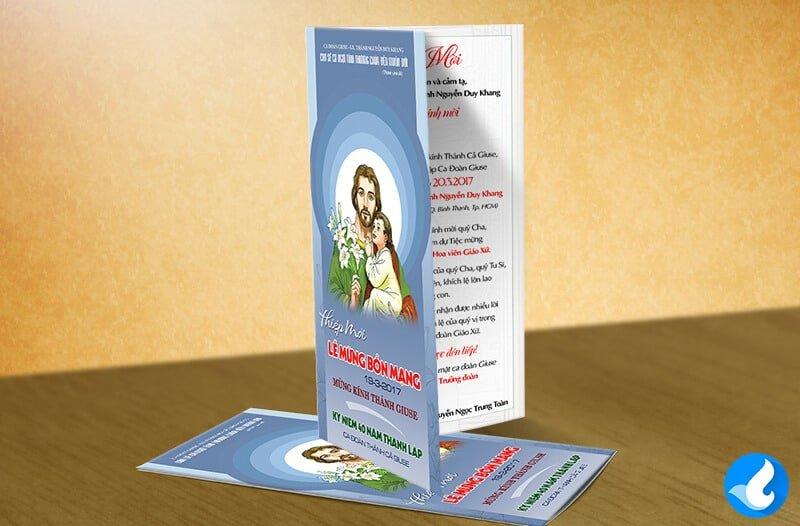 Thiệp mời Lễ Quan Thầy