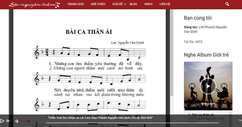 Nhúng bài hát pdf trong trang web