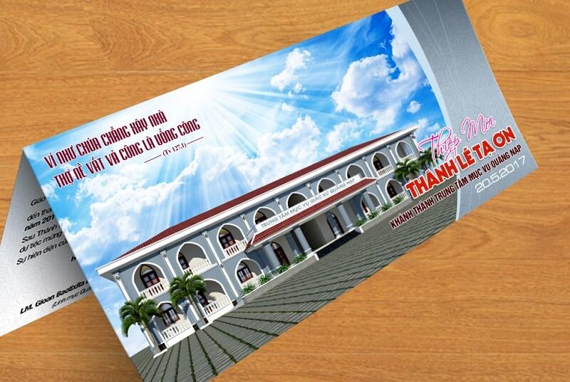Thiệp mời Lễ Tạ Ơn Khánh thành Trung tâm Mục vụ