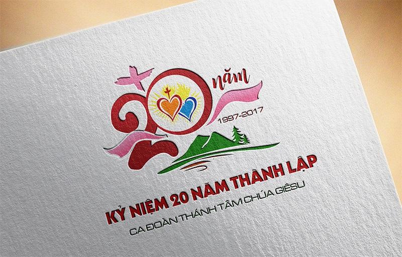 Logo kỷ niệm 20 năm thành lập ca đoàn Thánh Tâm 3