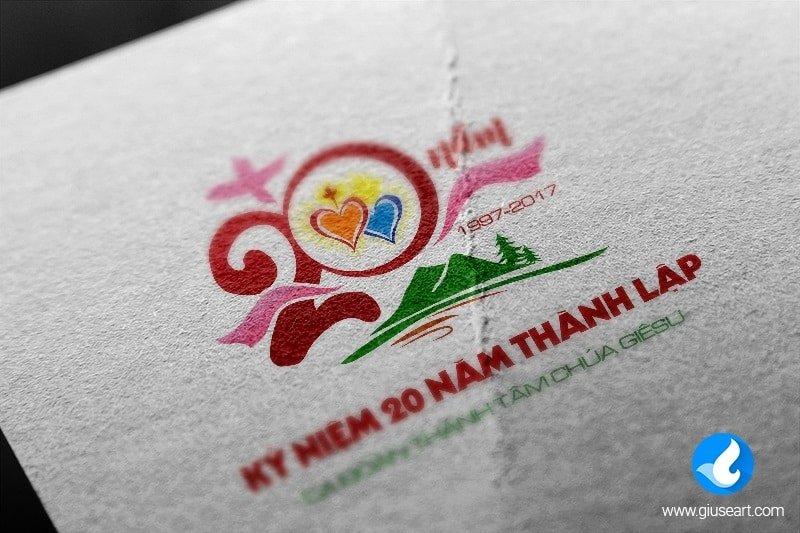 Logo kỷ niệm 20 năm thành lập ca đoàn Thánh Tâm 2
