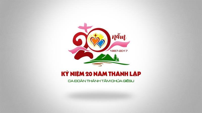 Logo kỷ niệm 20 năm thành lập ca đoàn Thánh Tâm 1