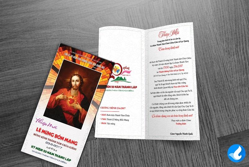 Thiệp mời Lễ Bổn mạng Ca đoàn Thánh Tâm 3