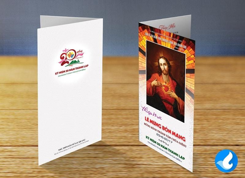 Thiệp mời Lễ Bổn mạng Ca đoàn Thánh Tâm 4