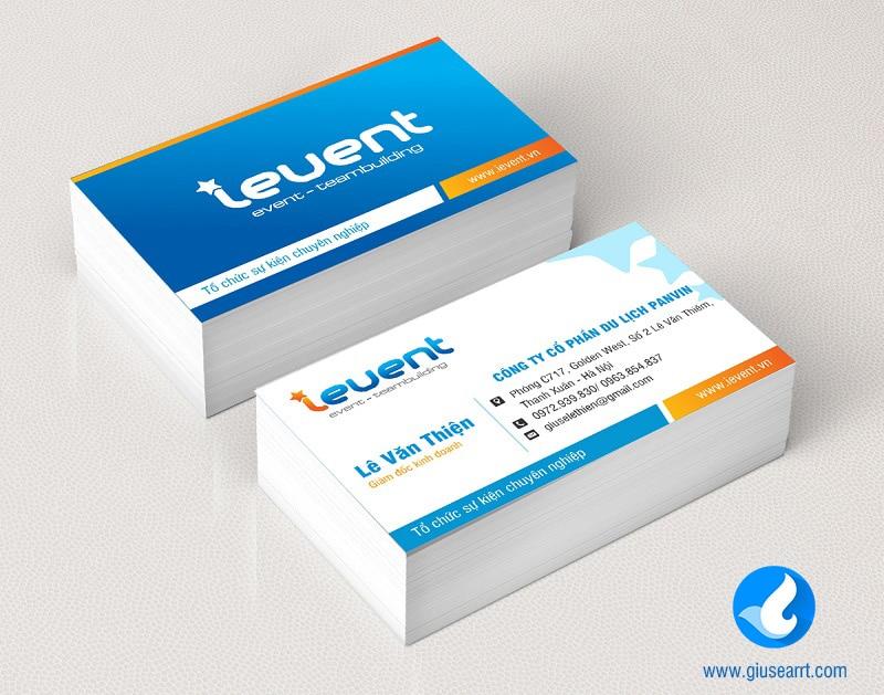 name card công ty tổ chức sự kiện