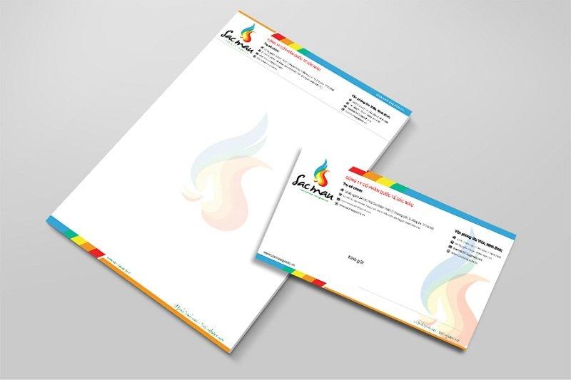 Phong bì thư Công ty cổ phần quốc tế sắc màu