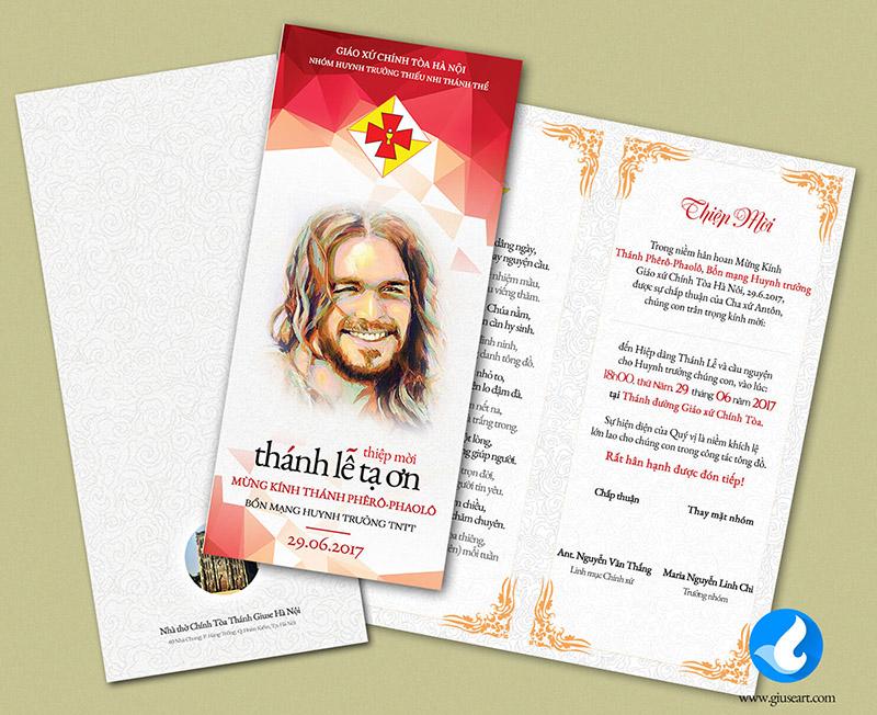 Thiệp mời Lễ Bổn Mạng Huynh trưởng TNTT 4