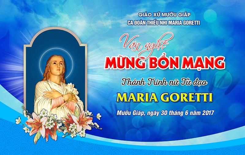 Phông sân khấu Lễ bổn mạng Thánh Maria Goretti