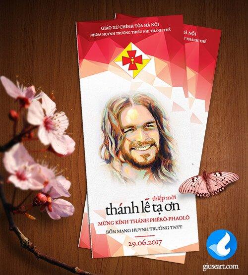 Thiệp mời Lễ Bổn Mạng Huynh trưởng TNTT 2