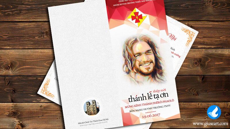 Thiệp mời Lễ Bổn Mạng Huynh trưởng TNTT 3