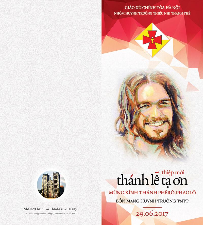 Mặt ngoài Thiệp mời Lễ Bổn Mạng Huynh trưởng TNTT