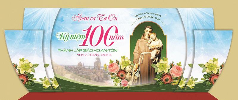 Phông sân khấu Lễ bổn mạng thánh Antôn Padova
