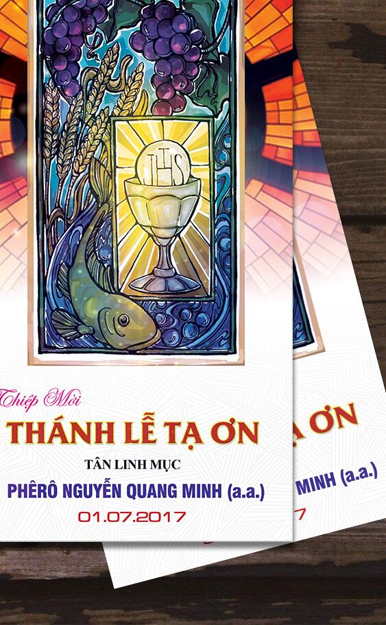 Thiệp mời Lễ Tạ Ơn tân linh mục 2