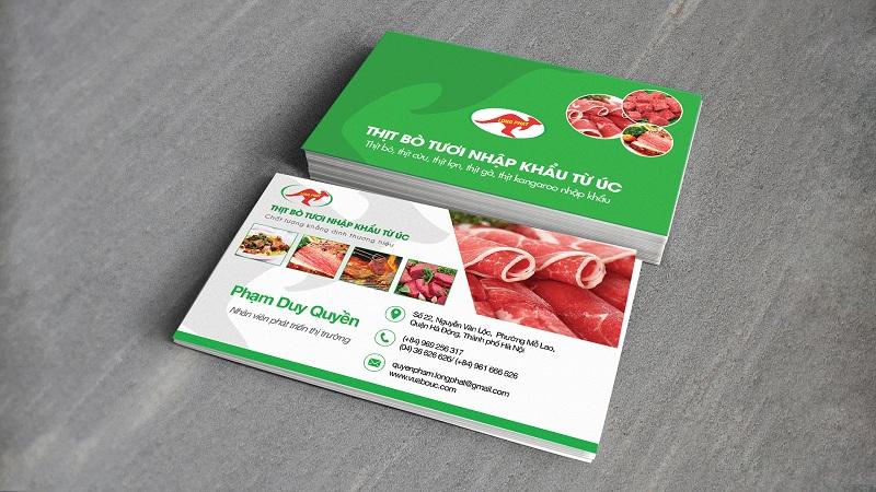 Name Card Thịt bò tươi nhập khẩu 2