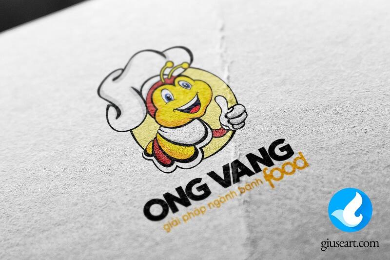 Thiết kế logo thương hiệu Ong vàng Food 3