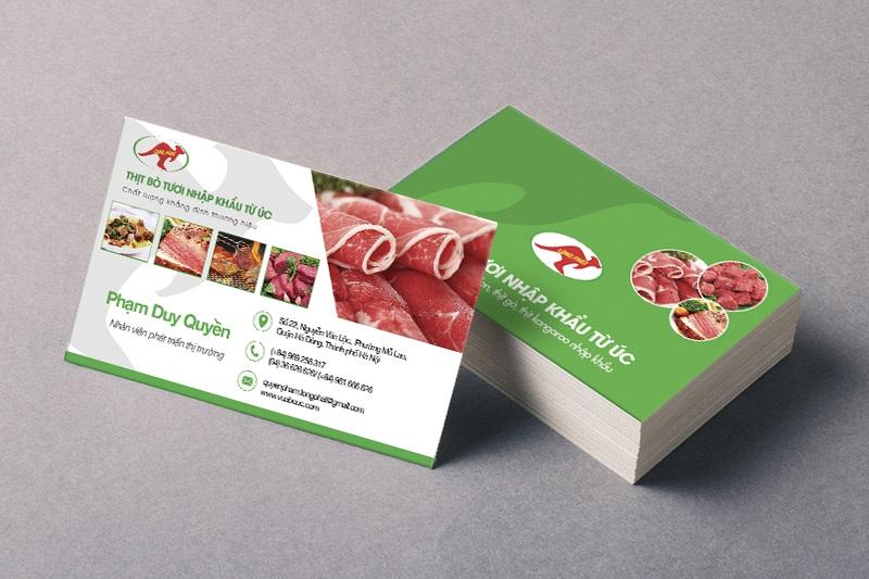 Name Card Thịt bò tươi nhập khẩu 3