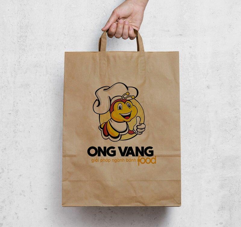 Thiết kế logo thương hiệu Ong vàng Food 6