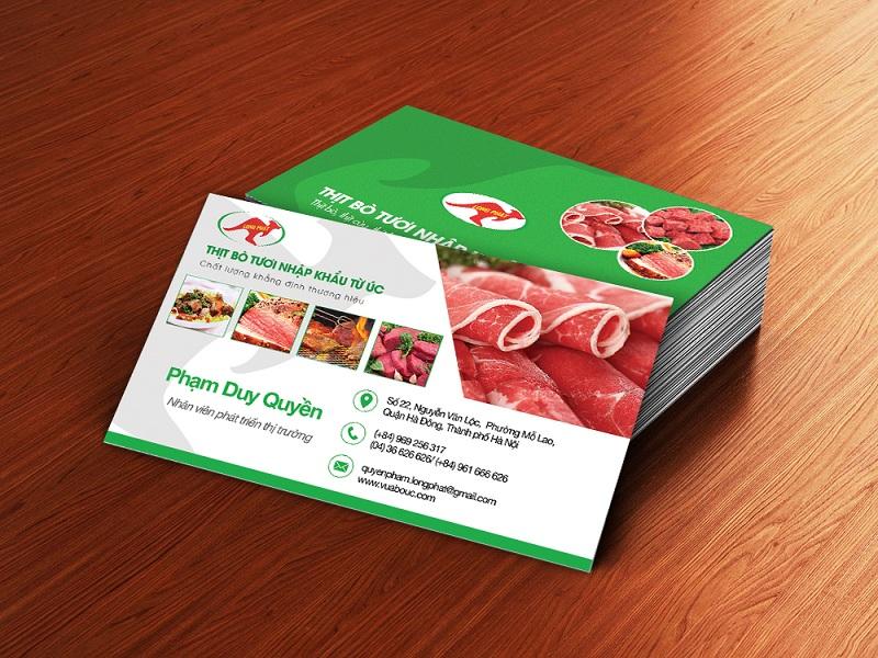 Name Card Thịt bò tươi nhập khẩu 6