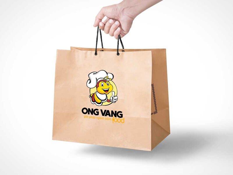 Thiết kế logo thương hiệu Ong vàng Food 7