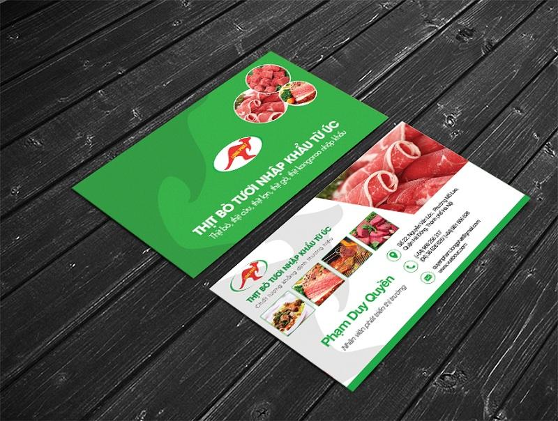 Name Card Thịt bò tươi nhập khẩu 1