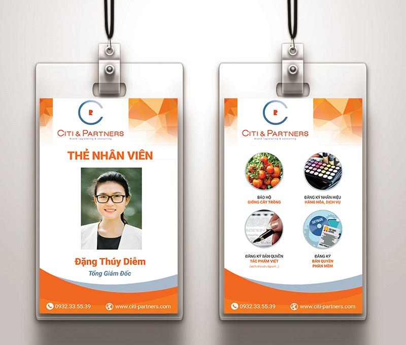 Thiết kế thẻ đeo nhân viên cho công ty
