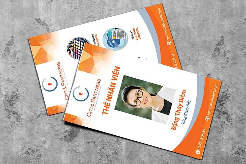 Thiết kế thẻ đeo chuyên nghiệp cho nhân viên