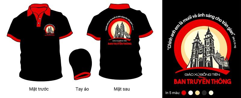 Thiết kế Áo đồng phục Ban truyền thông Giáo xứ Bồng Tiên