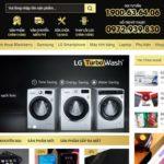 Demo website điện máy của Giuseart.com – Thiết kế website đẹp, chuẩn SEO uy tín