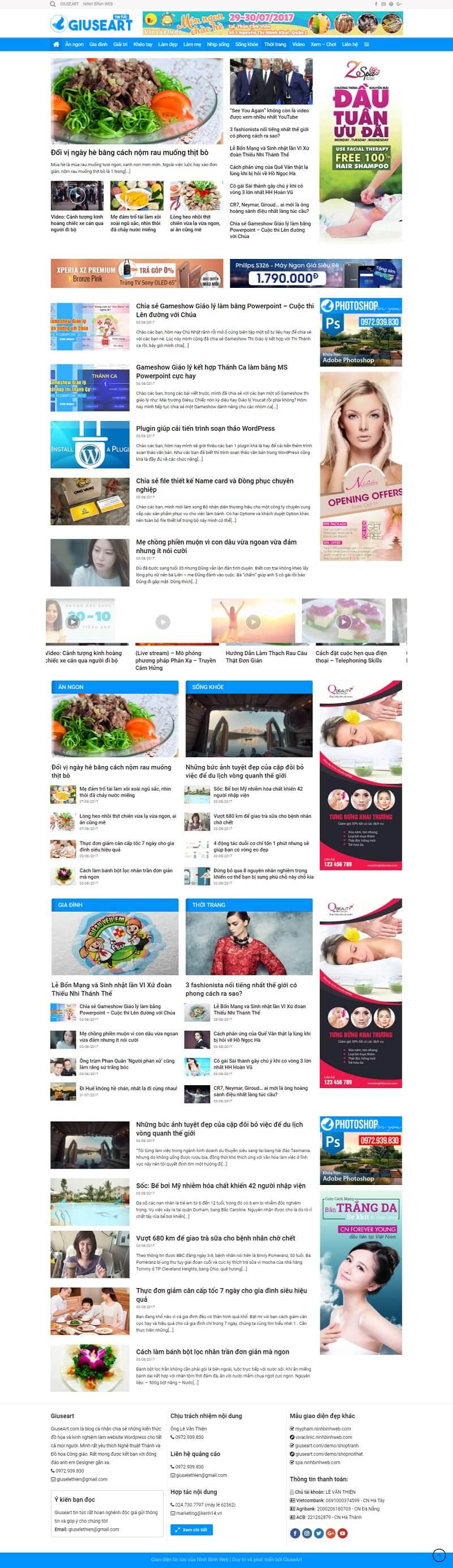 Demo website tin tức của Giuseart.com – Thiết kế website chuẩn SEO uy tín, chuyên nghiệp tại Đà Nẵng (1)