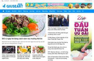Website tin tức của Giuseart.com – Thiết kế website chuẩn SEO uy tín, chuyên nghiệp tại Đà Nẵng