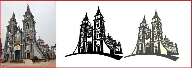 Phác nét làm biểu tượng Nhà thờ-01