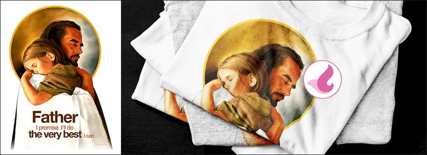 Vector công giáo - Giêsu yêu em