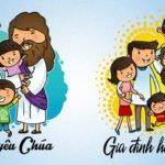 chia sẻ vector công giáo - gia đình hạnh phúc