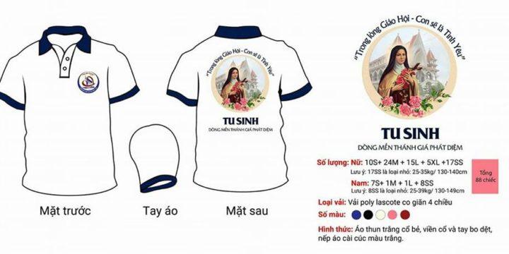 Mẫu áo đồng phục Công giáo – Tu sinh Dòng Mến Thánh Giá Phát Diệm