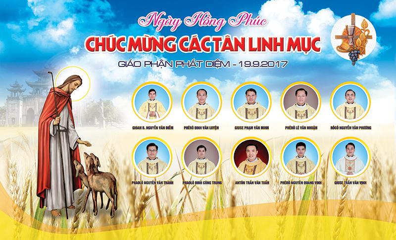 Backdrop Lễ Truyền chức Linh Mục - Giáo phận Phát Diệm